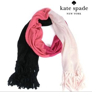 Kate Spade Brushed Colorblock Knit Scarf